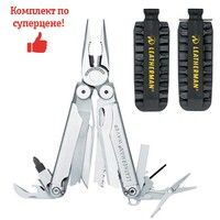 Фото Комплект мультитул Leatherman Wave + набор бит Leatherman BIT KIT 830083-931014