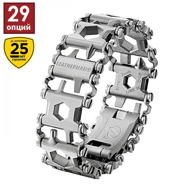 Браслет–мультитул Leatherman Tread Metric-Stainless 832325 video