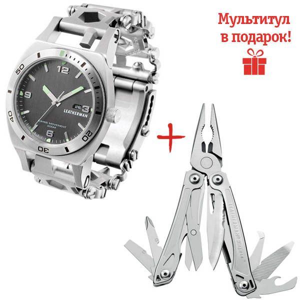 Часы-мультитул Leatherman Tread Tempo Steel 832421 video