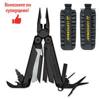 Фото Комплект мультитул Leatherman Wave Black 831331 + набор бит Leatherman BIT KIT 931014