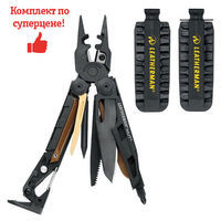 Фото Комплект мультитул Leatherman MUT EOD BLACK 850132N + набор бит Leatherman BIT KIT 931014